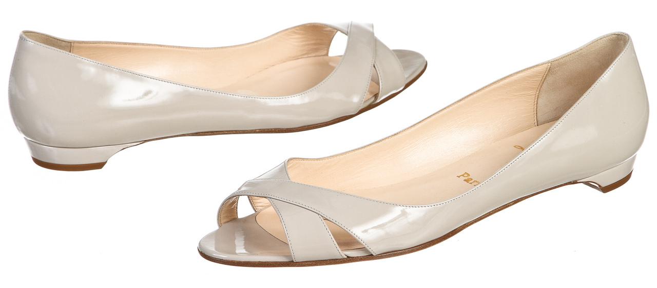 christian louboutin peep-toe flats | cosmetics digital innovation ...