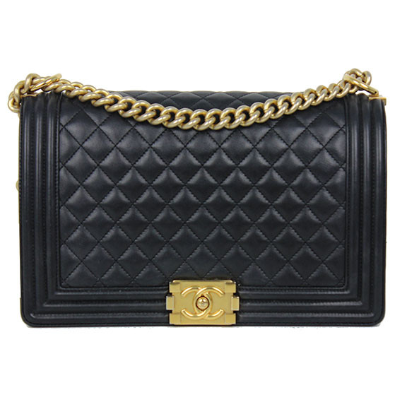 d53d0c44615a Chanel Boy Bag Black With Gold Chain | Stanford Center for ...