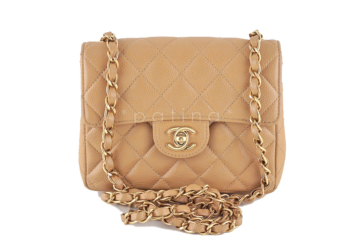 3f7a4a6f6d76 Chanel Classic Mini Flap Bag Beige   Stanford Center for Opportunity ...
