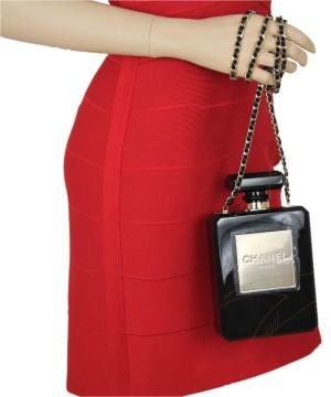 Chanel   Chanel Black Plexiglass Limited Edition Perfume Bottle Shoulder Bag