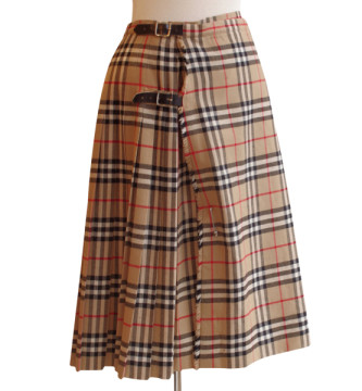 Burberry | Burberry Nove Checks Kilt Vintage Skirt