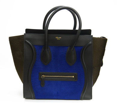 Céline | Celine Calf Hair & Leather Mini Luggage Tote