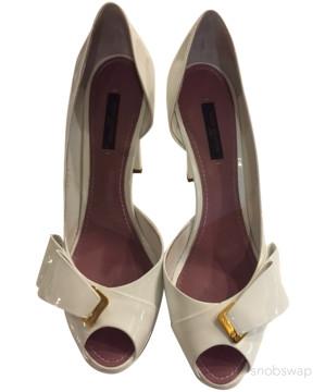 Louis Vuitton | Louis Vuitton White Patent Peep Toe Pump Size 39 Us Shoe Size 9