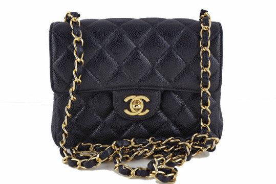 Chanel | Chanel Caviar Mini Flap, Black Classic 2.55 Bag