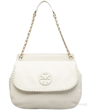 Tory Burch | Tory Burch White Crossbody Marion Saddle Bag