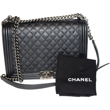 Chanel | Chanel Caviar Jumbo Le Boy in Black with Flap
