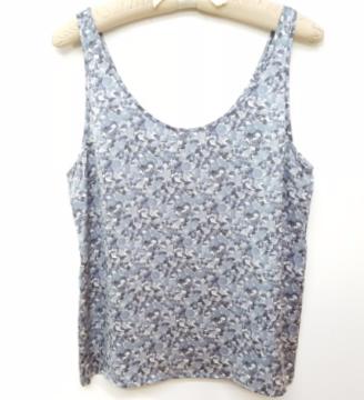 Stella McCartney   Blue Citrus Print Silk Satin Cami/top