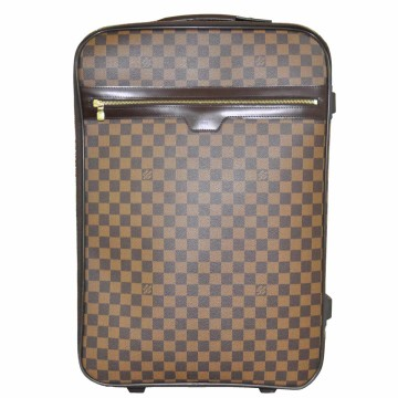 Louis Vuitton | Louis Vuitton Pegase 55 Damier Ebene Canvas Rolling Suitcase Travel Bag