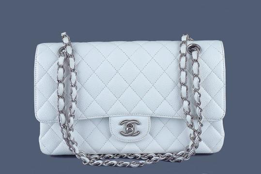 Chanel | Chanel White Caviar Medium-large Classic 2.55 Double Flap Bag
