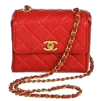 Chanel | Chanel Red Quilted Lambskin Classic Crossbody Handbag