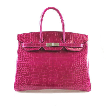 Hermès | Hermes Rose Sheherezade Crocodile Porosus Lisse Birkin 35cm Bag