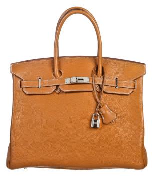 Hermès   Hermes Gold Togo Leather 35cm Birkin Handbag SHW