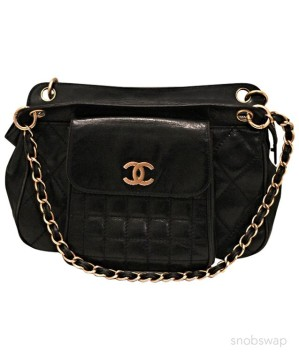Chanel | BLACK LEATHER QUILTED CHA...