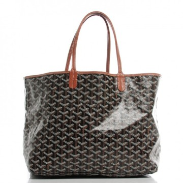Goyard | Goyard Tote Chevron St. Louis Pm Black Tan