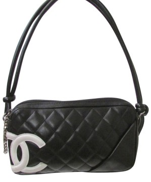 Chanel | Chanel Black Leather Quilted Clutch Handbag Chanel Black Leather Handbag Purse