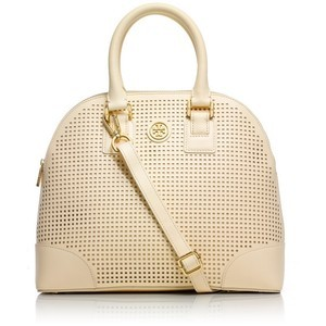 Tory Burch | Basket Weave Cream Dome Bag