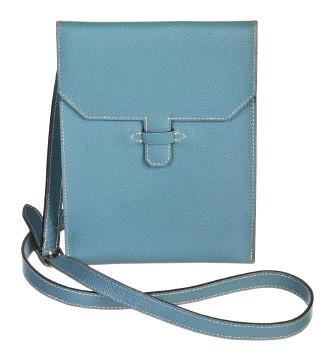 Hermès | Hermes Blue Jean Courchevel Leather Crossbody Amelie Handbag
