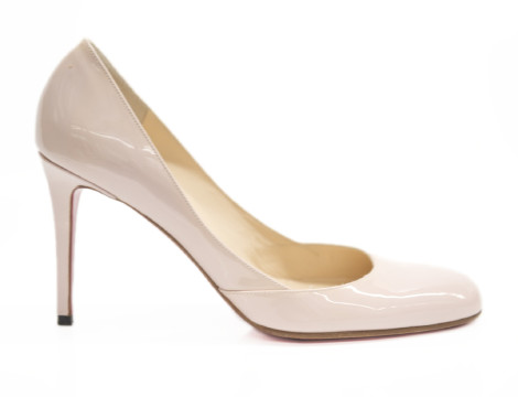 Christian Louboutin | Christian Louboutin Pale Pink Patent Leather Pumps