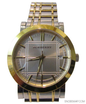 Burberry | BURBERRY SILVER AND GOLD...