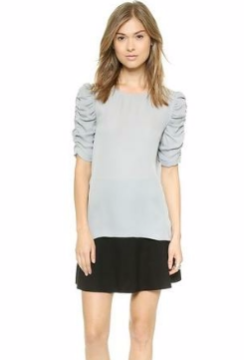Theory | Theory 'avonlee' Dove Gray Silk Georgette Top