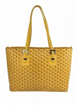 Goyard | Goyard Yellow Chevron Canvas Marie Galante GM Tote Bag