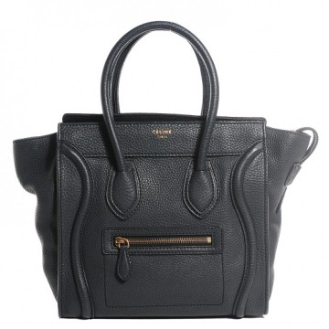 Céline | Celine Micro Luggage Tote Dark Grey Handbag