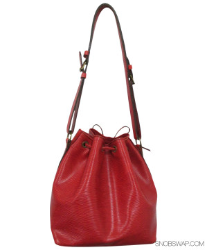 Louis Vuitton | Louis Vuitton Red Epi Leather Petit Noe Drawstring Tote w/ Adjustable Strap