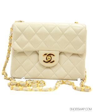Chanel | Chanel Off White Mini Flap Bag