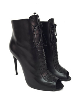 Tom Ford | Tom Ford Peep Toe Lace Up Ankle Boots