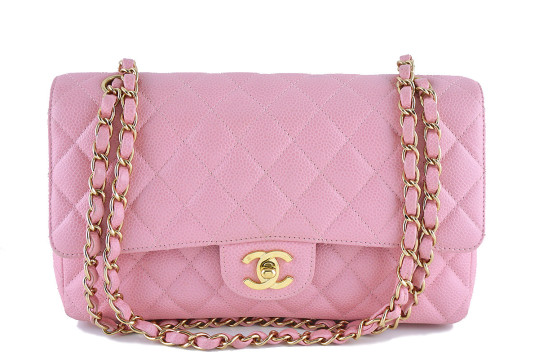 Chanel | Chanel Caviar Medium Double Flap, 2.55 Classic Pink Ghw