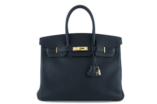 Hermès | Hermes 35cm Birkin Bag In Black Togo, Ghw