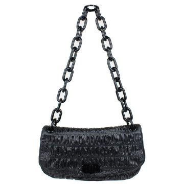 Prada | PRADA BLACK RUCHED CHAIN...