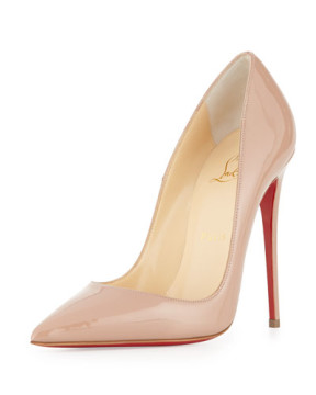 Christian Louboutin   •Christian Louboutin Nude Patent Leather Pump Worn TWO Times Free Shipping