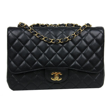 Chanel | Chanel Black Caviar Jumbo Bag