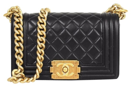 Chanel | Chanel Quilted Leather Gold Hdw Small Le Boy Shoulder Bag