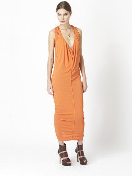 Azzedine Alaïa | Azzedine Alaia Orange Racer Back Slouchy Knit Dress