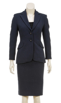 Moschino Cheap & Chic | Cheap and Chic by Moschino Navy Blue Jacket and Skirt Suit (Size 4)