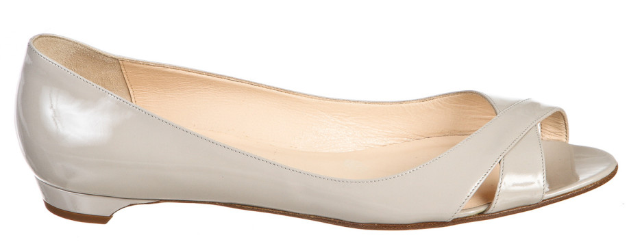 louis vuitton loafers replica - christian louboutin patent leather peep-toe flats | The Little ...