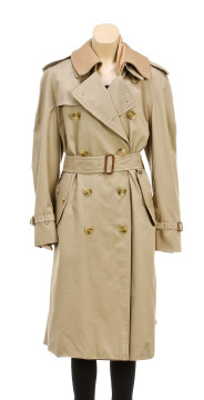 Burberry | Burberrys Tan Long Double Breasted Trench Coat (Size L)