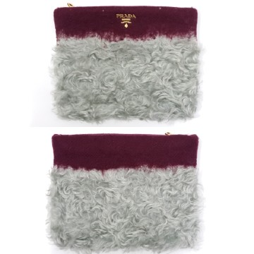 Prada Wool Mohair Clutch