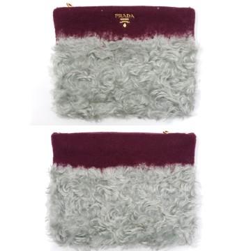 Prada Wool Mohair Clutch