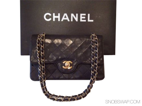 Chanel | Chanel VIntage Classic Double Flap Bag Gold Hardware