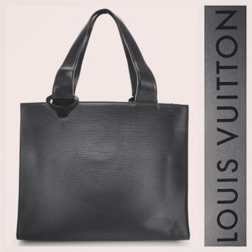 Louis Vuitton   Louis Vuitton $1,350 black epi leather 'Z Gemeaux' large tote bag