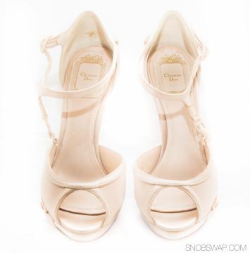 Christian Dior   Christian Dior Nude Bra Strap Heels