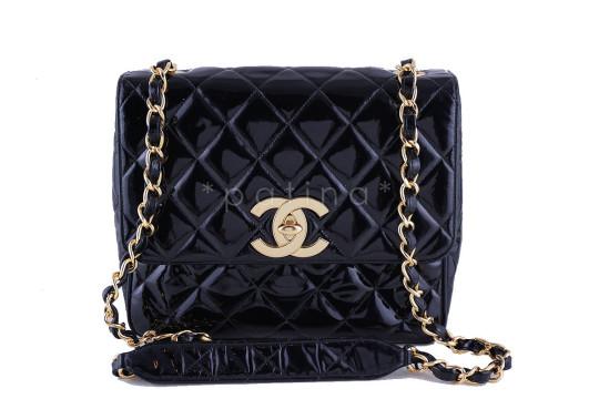 Chanel | Chanel Vintage Patent Square Flap, 2.55 Classic Bag