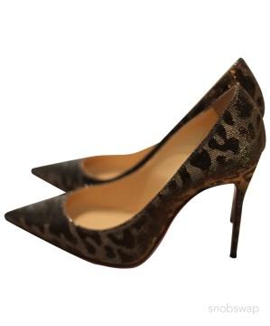 Christian Louboutin | Glittery Gold Louboutin Heels