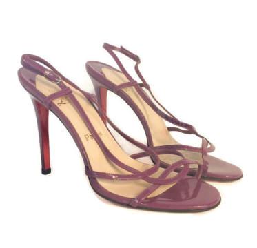 Christian Louboutin | Christian Louboutin Purple Strappy Slingback Sandals