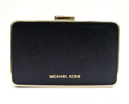Michael Kors   Michael Kors Black Leather Clutch