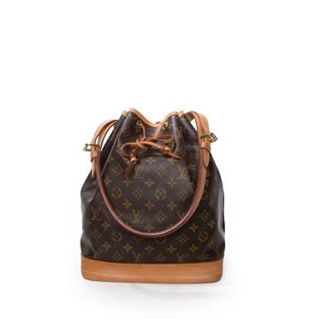 Louis Vuitton   Vintage Louis Vuitton Monogram Noe Brown Leather Bucket Bag