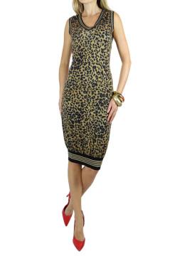 John Galliano   John Galliano Leopard Print Dress